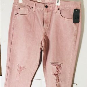 Mossimo Destroyed Cropped Boyfriend Jeans SZ 14/32